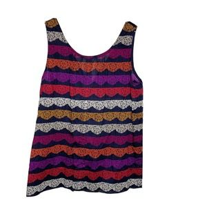 Marc Jacobs sleeveless Lace Print top bows in back